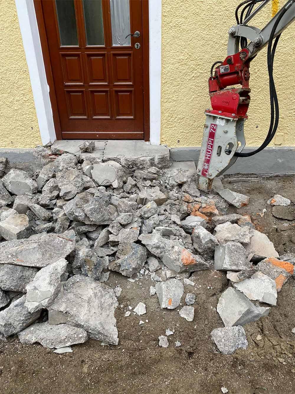 Abbrucharbeiten durchgeführt von MD Erdbau Oberösterreich
