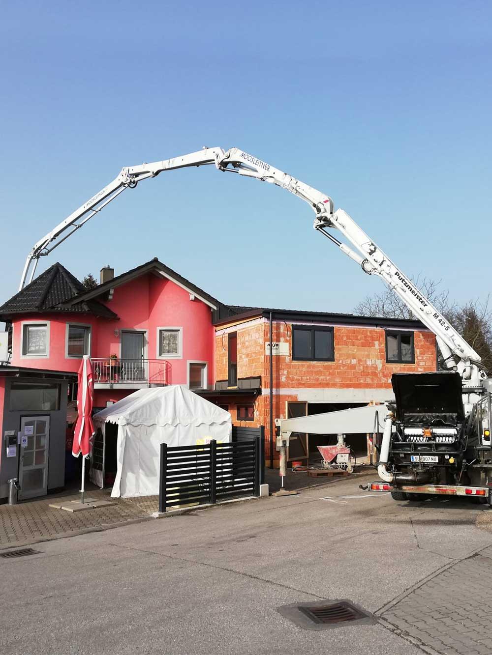 Betonarbeiten Baustelle Hausbau von MD Erdbau