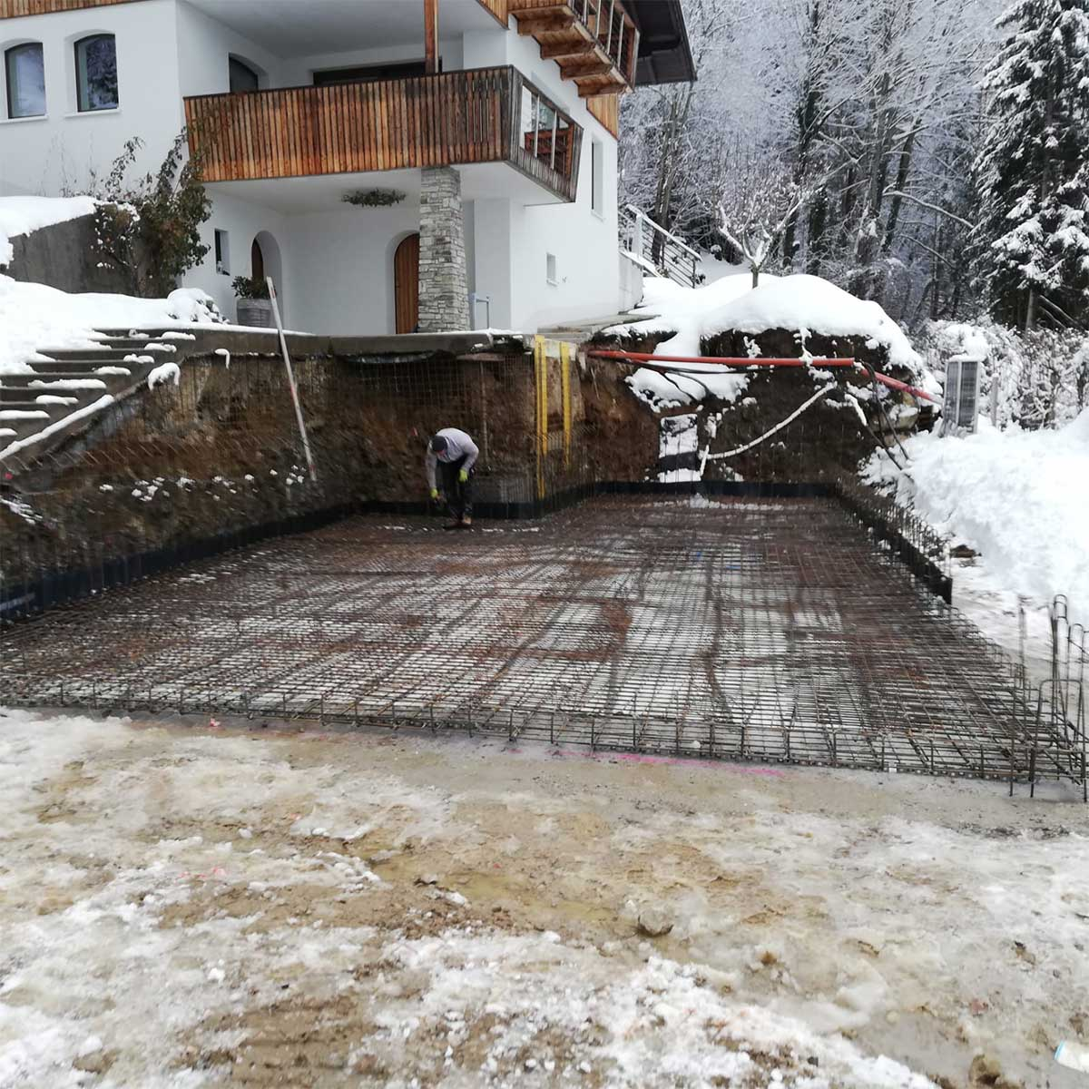 Fundament Betonieren Baufirma MD Erdbau