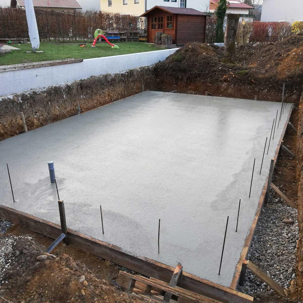 Fundament - Beton Md Erdbau
